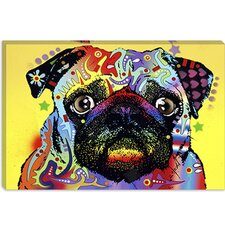 """Pug"" Canvas Wall Art by Dean Russo"