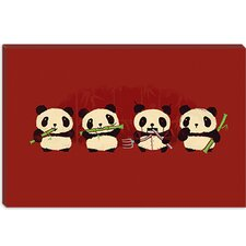 "<strong>iCanvasArt</strong> ""Panda 2000"" Canvas Wall Art by Budi Satria Kwan"