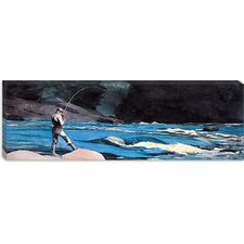 """Ouananiche, Lake St John (Panoramic)"" Canvas Wall Art by Winslow Homer"
