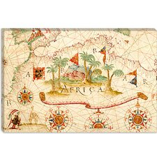 """Nautical Chart of Mediterranean Area Including Part of Europe and Africa"" Canvas Wall Art by Luis Teixeira"