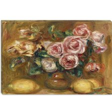 """Nature Morte: Bouquet De Roses Avec Citrons"" Canvas Wall Art by Pierre-Auguste Renoir"