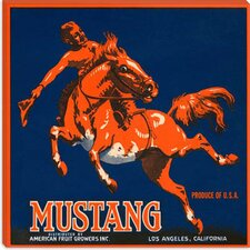 <strong>iCanvasArt</strong> Mustang Brand Fruit Vintage Crate Label Canvas Wall Art