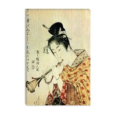 "<strong>iCanvasArt</strong> ""Musicienne"" Canvas Wall Art by Katsushika Hokusai"