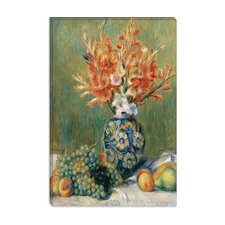 "<strong>iCanvasArt</strong> ""Nature Morte, Fleurs Et Fruits 1889"" Canvas Wall Art by Pierre-Auguste Renoir"