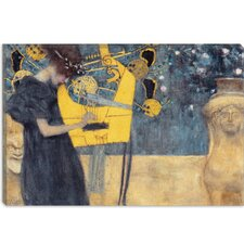 "<strong>iCanvasArt</strong> ""Musik I 1895"" Canvas Wall Art by Gustav Klimt"