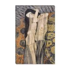 """Nagender Kummer ll (Gnawing Grief)"" Canvas Wall Art by Gustav Klimt"
