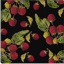 "<strong>iCanvasArt</strong> ""Nature's Bounty - Raspberries"" Canvas Wall Art by Mindy Sommers"