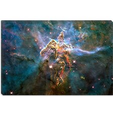 <strong>iCanvasArt</strong> Mystic Mountain in Carina Nebula (Hubble Space Telescope) Canvas Wall Art