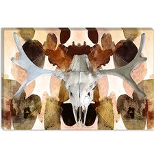 <strong>iCanvasArt</strong> Moose Skull #4 Canvas Wall Art