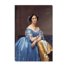 "<strong>iCanvasArt</strong> ""Princess De Broglie"" Canvas Wall Art by Jean-Auguste Ingres"