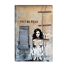 "<strong>iCanvasArt</strong> ""Post No Bills"" Canvas Wall Art by Luz Graphics"
