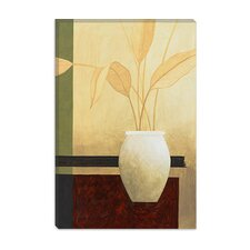 "<strong>iCanvasArt</strong> ""White Vase on the Table"" Canvas Wall Art by Pablo Esteban"