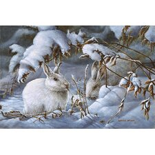 "<strong>iCanvasArt</strong> ""Winter Hares"" Canvas Wall Art by Wanda Mumm"