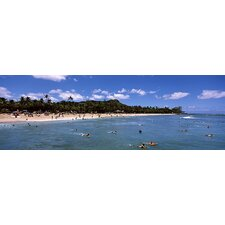 <strong>iCanvasArt</strong> Waikiki Beach, Honolulu, Oahu, Hawaii Canvas Wall Art