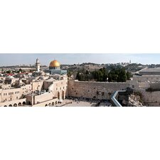 <strong>iCanvasArt</strong> Wailing Wall, Dome of the Rock, Temple Mount, Jerusalem, Israel Canvas Wall Art