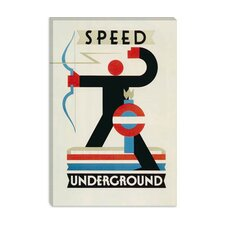<strong>iCanvasArt</strong> Speed Underground the London Undergrond Vintage Poster