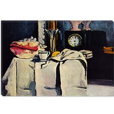 """The Black Clock"" Canvas Wall Art by Paul Cezanne"