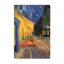 "<strong>iCanvasArt</strong> ""The Cafe Terrace on the Place du Forum, Arles, at Night 1888"" Canvas Wall Art by Vincent Van Gogh"
