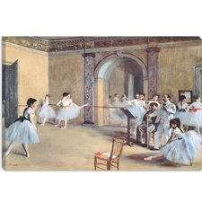 "<strong>iCanvasArt</strong> ""The Dance Foyer at the Opera"" Canvas Wall Art by Edgar Degas"