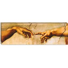 "<strong>iCanvasArt</strong> ""The Creation of Adam Panoramic"" Canvas Wall Art by Michelangelo"