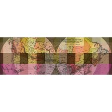 <strong>iCanvasArt</strong> The Dominion of Canada, Vintage Map Panoramic #2 Canvas Wall Art