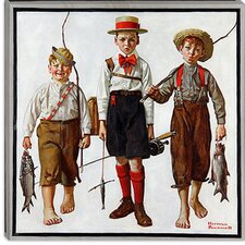 """The Catch"" Canvas Wall Art by Norman Rockwell"