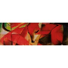 "<strong>iCanvasArt</strong> ""The Fox Panoramic"" Canvas Wall Art by Franz Marc"