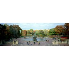 <strong>iCanvasArt</strong> Bethesda Fountain, Central Park, Manhattan, New York City, New York State Canvas Wall Art