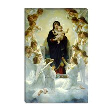 "<strong>iCanvasArt</strong> ""The Virgin with Angels"" Canvas Wall Art by William-Adolphe Bouguereau"