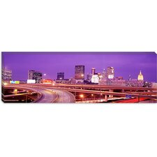 <strong>iCanvasArt</strong> Georgia, Atlanta, Skyline at Dusk Canvas Wall Art