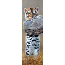 "<strong>iCanvasArt</strong> ""Tiger Cub Standing up"" Panoramic Canvas Wall by Pip McGarry"