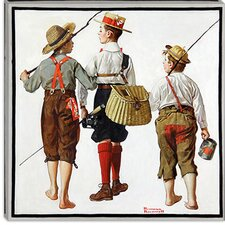 """The Fishing Trip"" Canvas Wall Art by Norman Rockwell"