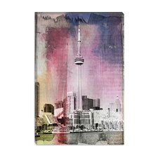 <strong>iCanvasArt</strong> Toronto, CN Tower Canada #3 Canvas Wall Art