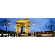 <strong>iCanvasArt</strong> Arc de Triomphe, Paris, France Canvas Wall Art