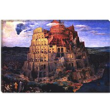 "<strong>iCanvasArt</strong> ""The Tower of Babel"" Canvas Wall Art by Pieter Bruegel"