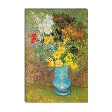 "<strong>iCanvasArt</strong> ""Vase with Daisies and Anemones"" Canvas Wall Art by Vincent Van Gogh"