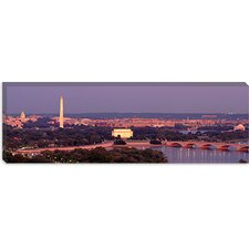 <strong>iCanvasArt</strong> Washington, D.C, Aerial, Night Canvas Wall Art