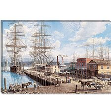 "<strong>iCanvasArt</strong> ""Vallejo St. Wharf"" Canvas Wall Art by Stanton Manolakas"