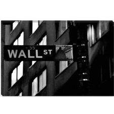 <strong>iCanvasArt</strong> Wall Street Sign Photographic Canvas Wall Art
