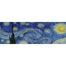 """The Starry Night"" Panoramic Canvas Wall Art by Van Gogh"