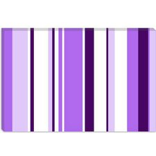 <strong>iCanvasArt</strong> Irises Striped Canvas Wall Art