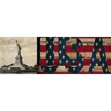 <strong>iCanvasArt</strong> Statue of Liberty, Constitution Canvas Wall Art