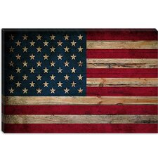 <strong>iCanvasArt</strong> U.S.A. Flag, Wood Canvas Wall Art