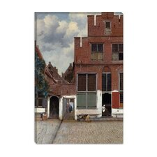"<strong>iCanvasArt</strong> ""Street in Delft"" Canvas Wall Art by Johannes Vermeer"