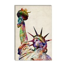 "<strong>iCanvasArt</strong> ""Statue of Liberty"" Canvas Wall Art by Michael Thompsett"