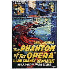 <strong>iCanvasArt</strong> The Phantom of The Opera Advertising Vintage Poster