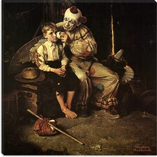 "<strong>iCanvasArt</strong> ""The Runaway (Runaway Boy and Clown)"" Canvas Wall Art by Norman Rockwell"