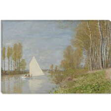 """Voilier Sur Le Petit Bras De La Seine, Argenteuil 1872"" Canvas Wall Art by Claude Monet"