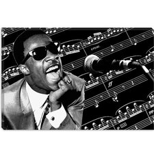 "<strong>iCanvasArt</strong> ""Stevie Wonder"" Canvas Wall Art by Donovan Kade"
