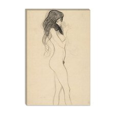 """Standing Female Nude from the Front"" Canvas Wall Art by Gustav Klimt"
